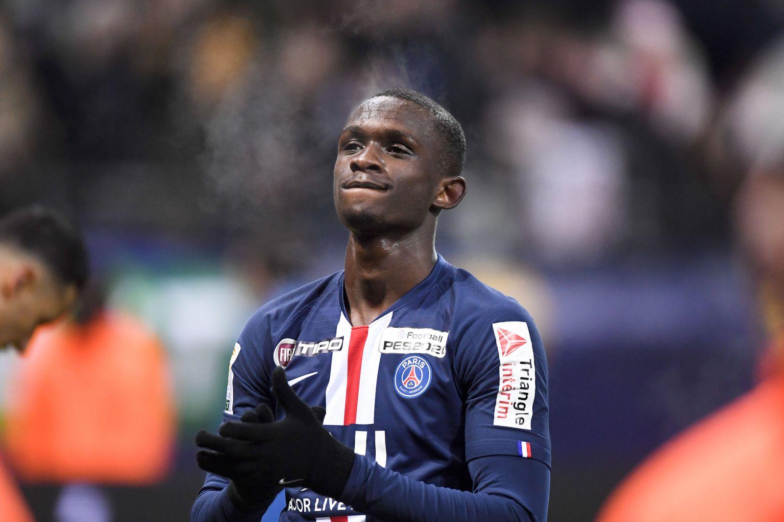JOIE - FAIR PLAY - 33 TANGUY KOUASSI (PSG) FOOTBALL : Reims vs Paris SG - Coupe de la Ligue - 22/01/2020 AnthonyBIBARD/