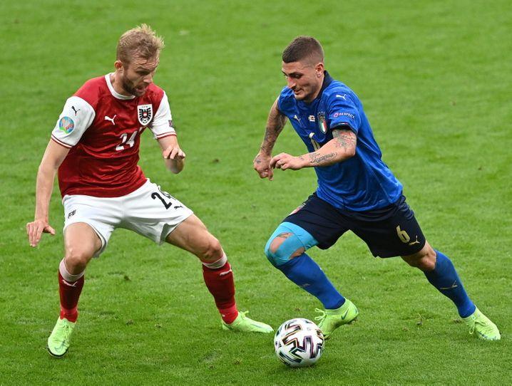 Wenig Einsatzzeit, aber wichtig: Italiens Marco Verratti am Ball
