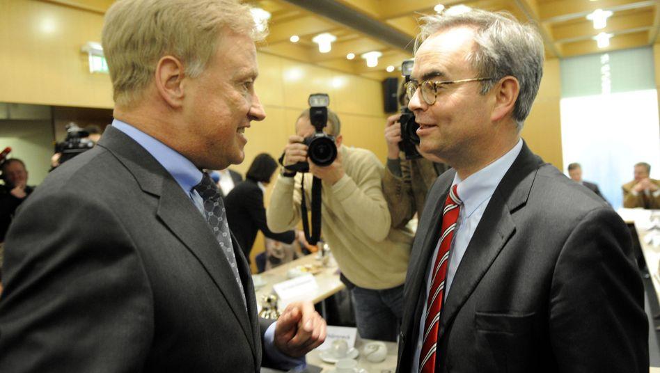 Scheuerl (rechts) und Beust: Separatismus auch im Wahlkampf