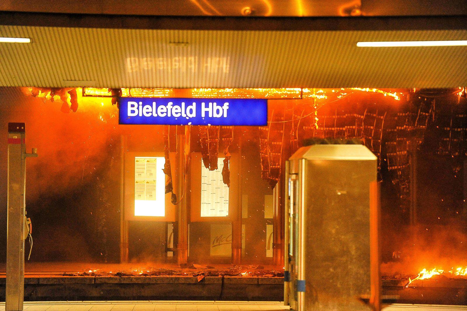 Brand im Bielefelder Hauptbahnhof