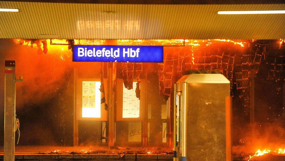 Feuer in Bielefeld
