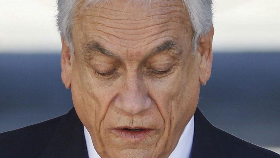 Sebastian Piñera bei der Bekanntgabe der Gipfel-Absage.