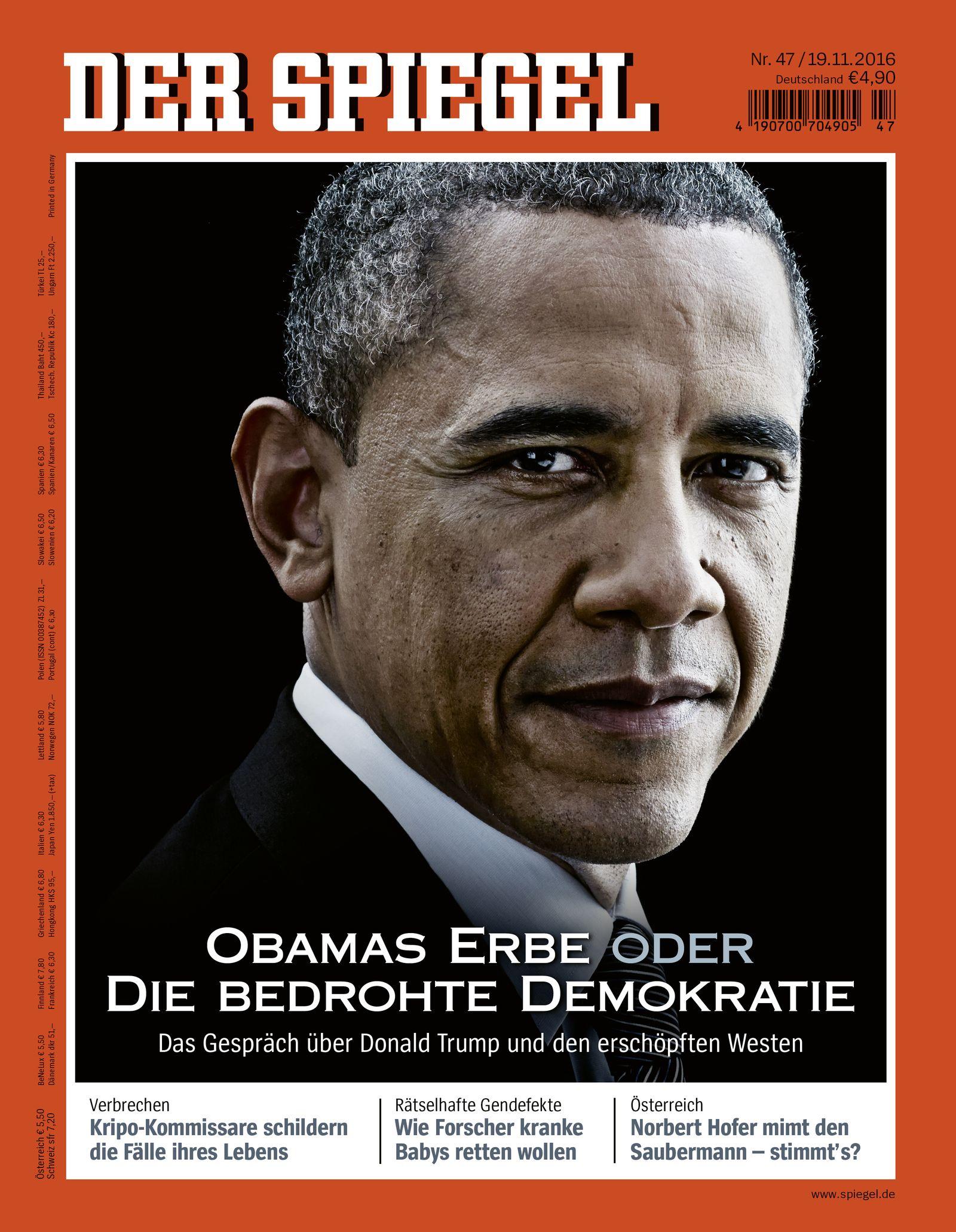 DER SPIEGEL 45/2016 Cover