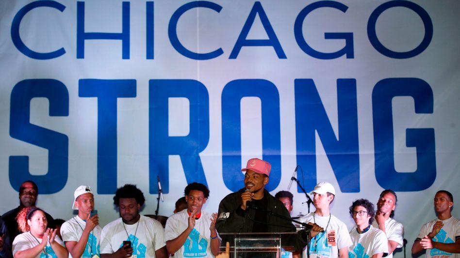 Demonstration gegen Waffengewalt in Chicago