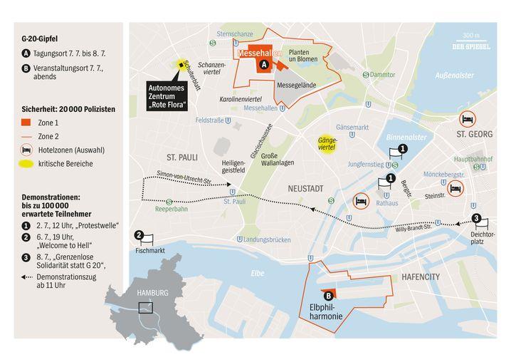G20-Sicherheitszonen in Hamburg