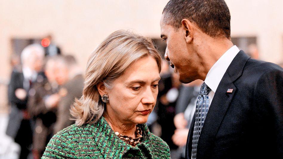 """Clinton, Obama: """"Diese Datenpanne ist ein schwerer Schlag für die US-Diplomatie"""""""