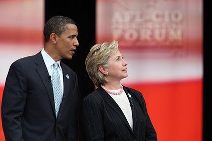 Obama und Clinton: