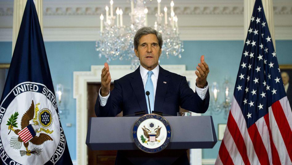 """US-Minister Kerry: """"Gesicht amerikanischer Intervention"""""""
