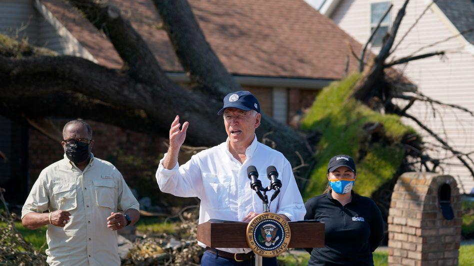 Joe Biden beim Besuch in LaPlace im US-Bundesstaat Louisiana: »Wir werden für Sie da sein«