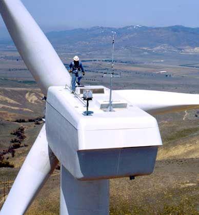 Windkraftwerk: Alternative Energien sollen einen Ausweg aus der Treibhausfalle bieten