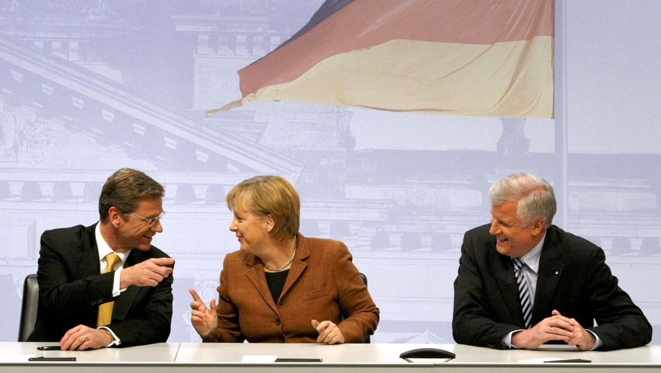 Guido Westerwelle, Angela Merkel, Horst Seehofer: Größenwahn und Phantomschmerz