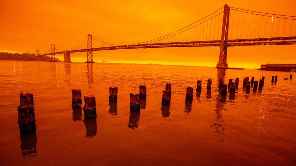 Himmel über San Francisco: Die meisten Menschen stellen den Zusammenhang zwischen einer immer heißer werdenden Erdatmosphäre und diesen Katastrophen mittlerweile automatisch her