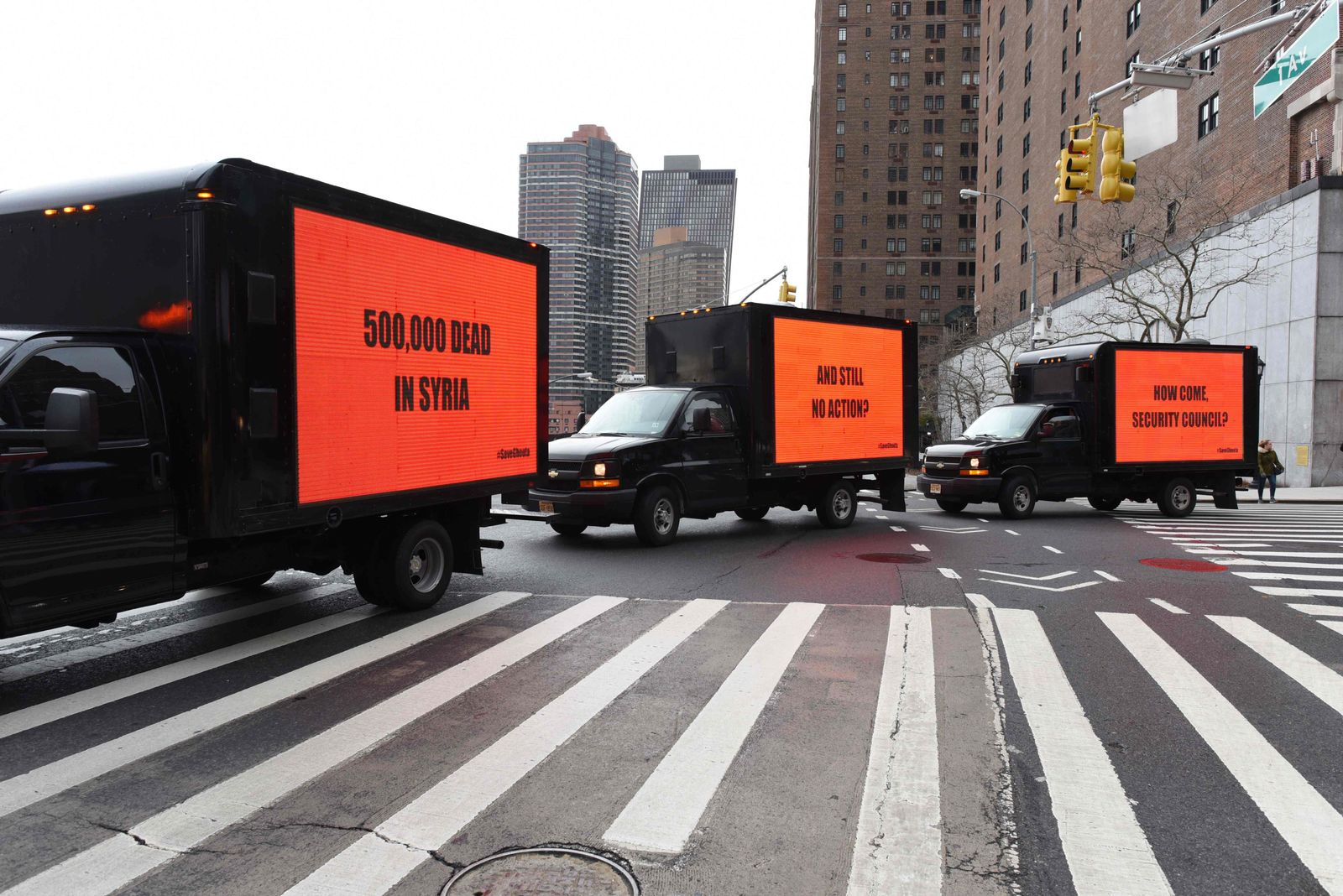 """Three Billboards Outside Ebbing, Missouri"" / Protest New York"