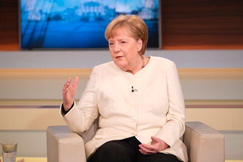 Angela Merkel gestern bei »Anne Will«