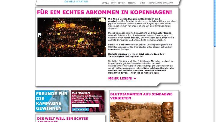 Online-Bewegungen: Politik-Netzwerk Avaaz