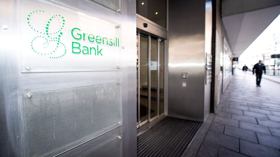 Eingang zur Greensill Bank in Bremen