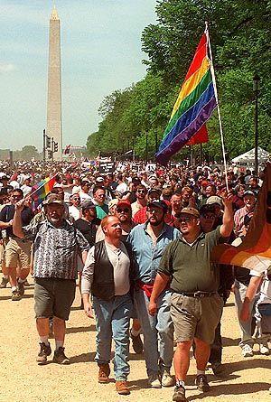 Kämpfen für die Gleichberechtigung: Homosexuelle demonstrieren in Washington