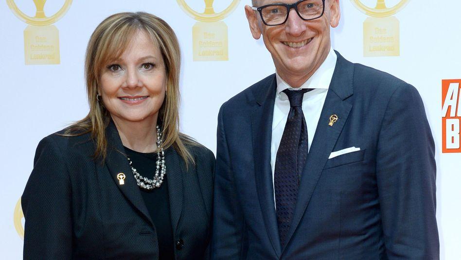 GM-Chefin Marry Barra und Opel-Chef Karl-Thomas Neumann