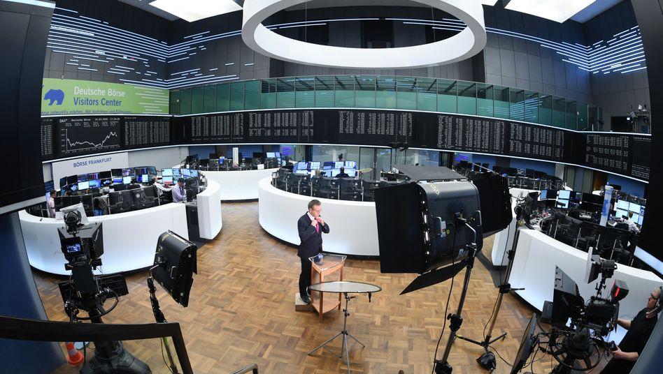 Börse in Frankfurt (Archivbild): Der Dax legte diese Woche um elf Prozent zu