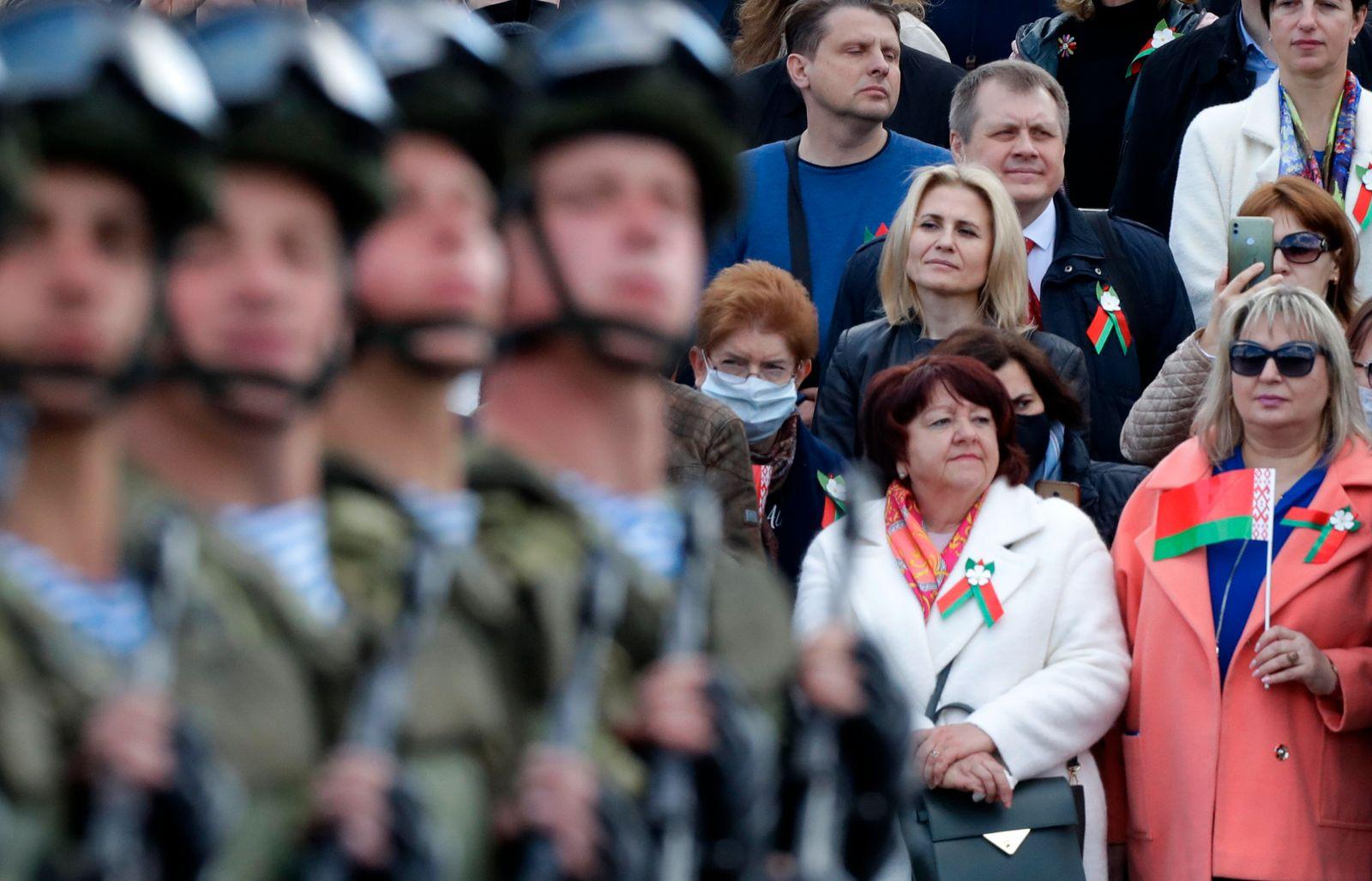 Virus Outbreak Belarus WWII Victory Day