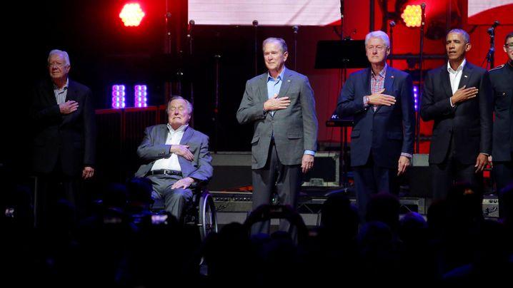Hurrikan-Spendengala: Obama, Bush, Clinton und Carter helfen Opfern