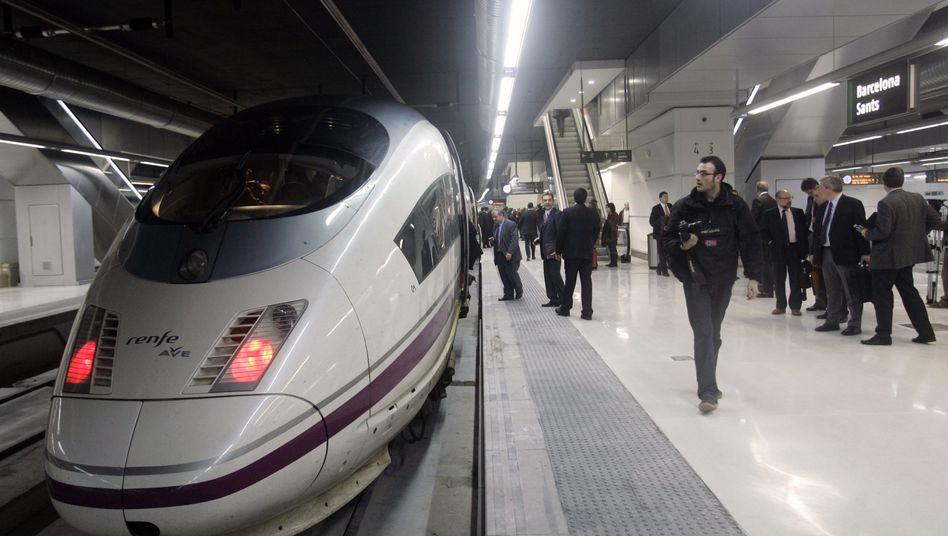 Spanischer Schnellzug: Extreme Sparmaßnahmen geplant
