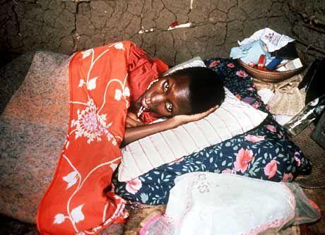 Aids-Kranke in Uganda: Durch Hunger und Krankheit werden die Menschen doppelt geschwächt
