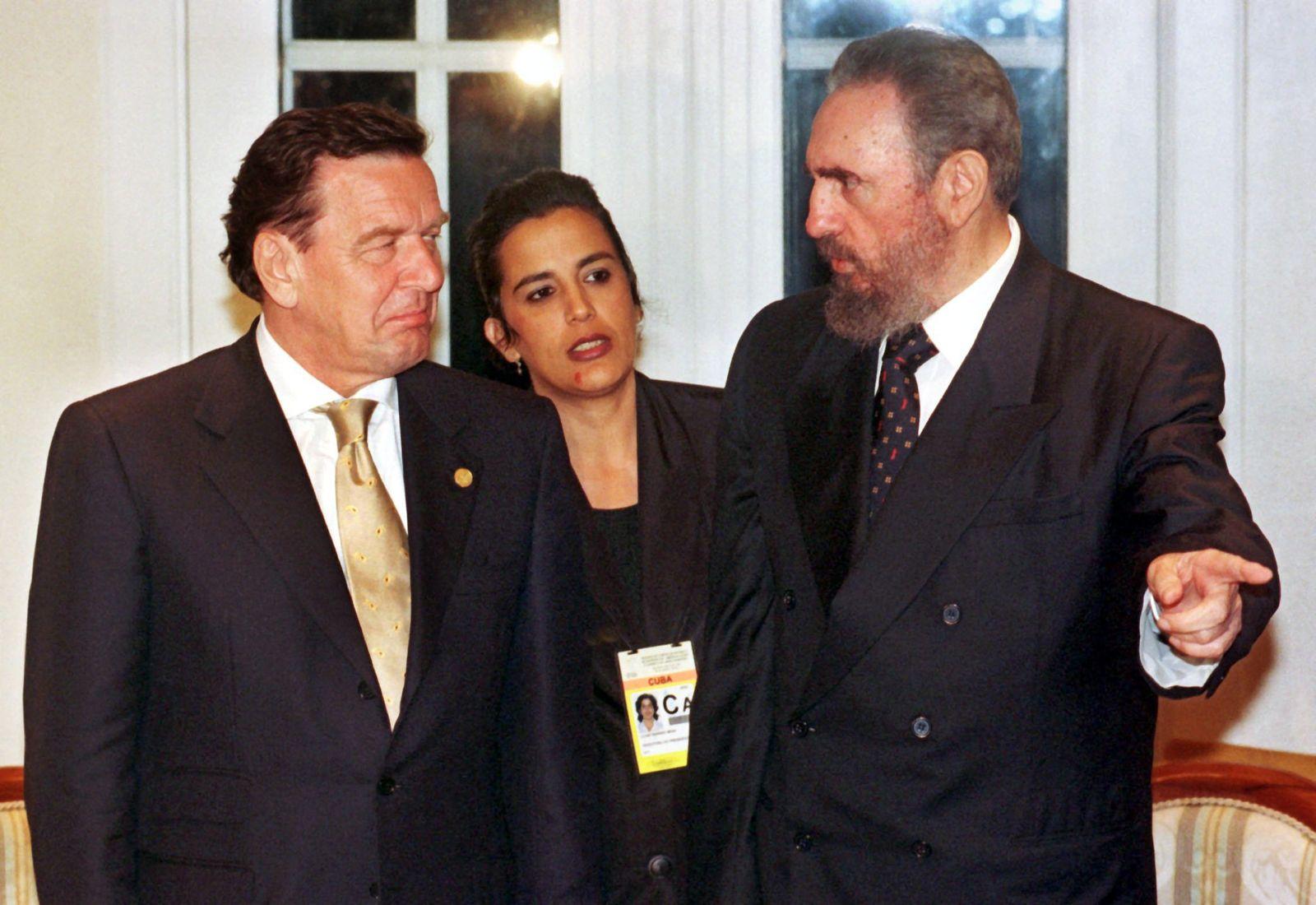 Fidel Castro und Gerhard Schröder