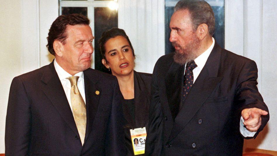Schröder und Castro im Jahr 1999