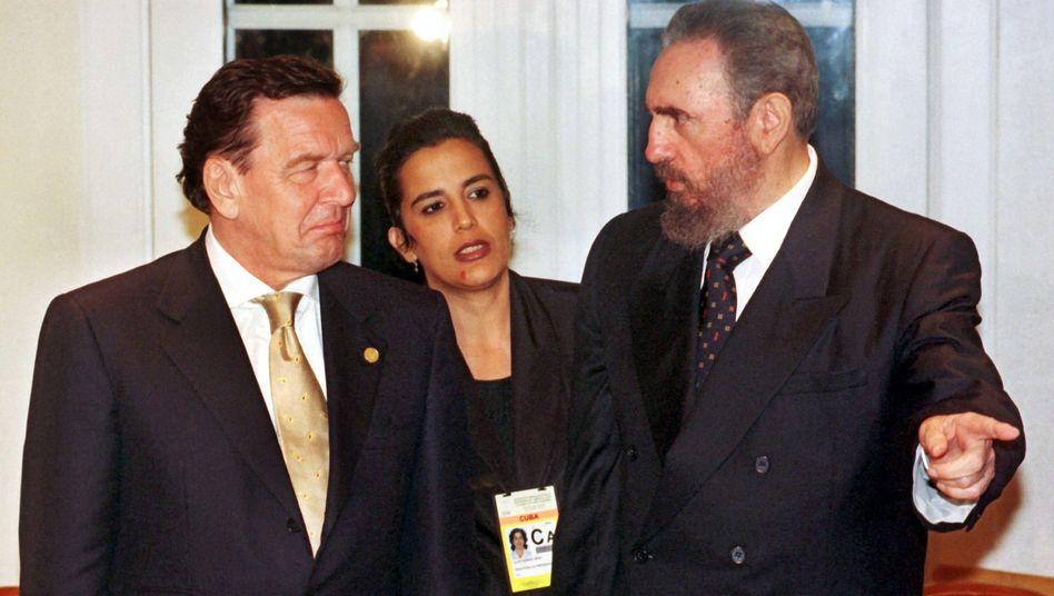 Kanzler Gerhard Schröder 1999 während einer EU-Lateinamerikakonferenz in Rio