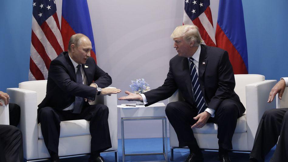 Putin, Trump am Rande des G20-Gipfels in Hamburg