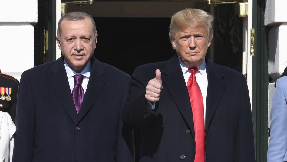 Erdogan (l.) und Trump im November 2019