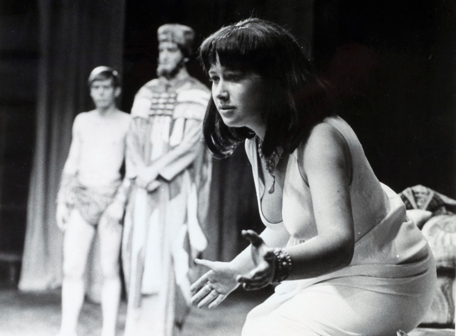 "Personalities Stage and Screen. pic: 6th September 1965. British actress Helen Mirren (born 1945 Ilyena Vasilievna Mironov) acclaimed film and stage actress, pictured when she was appearing at the Old Vic, London in the role of ""Cleopatra""."