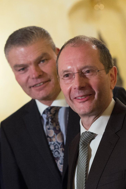 Holger Stahlknecht (links) und Markus Ulbig
