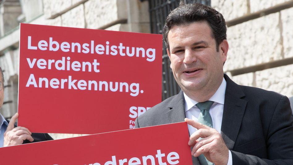 Arbeitsminister Heil (SPD) nach dem Beschluss der Grundrente durch den Bundestag