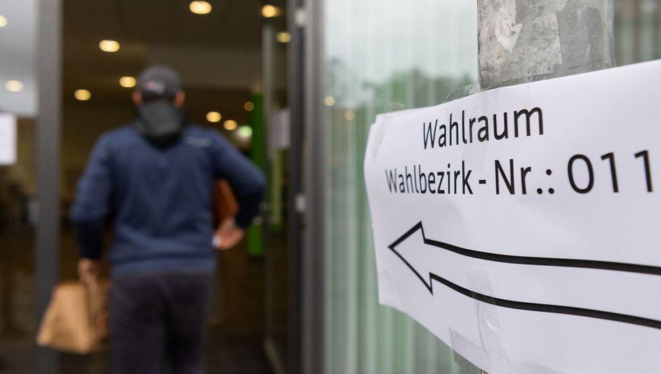 Wahllokal in Erfurt: Die großen Gewinner sind Linke und AfD