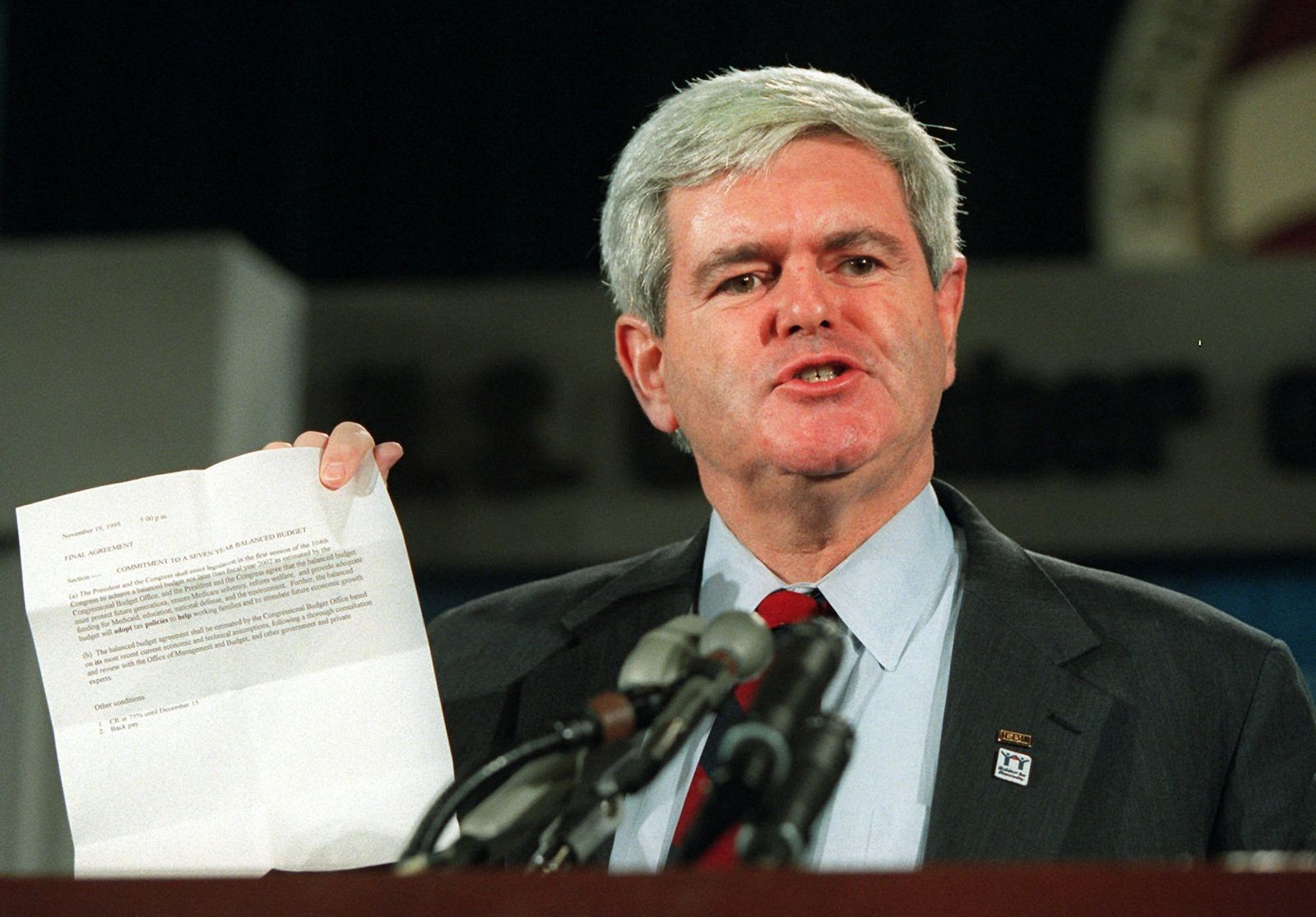 Shutdown/ Newt Gingrich