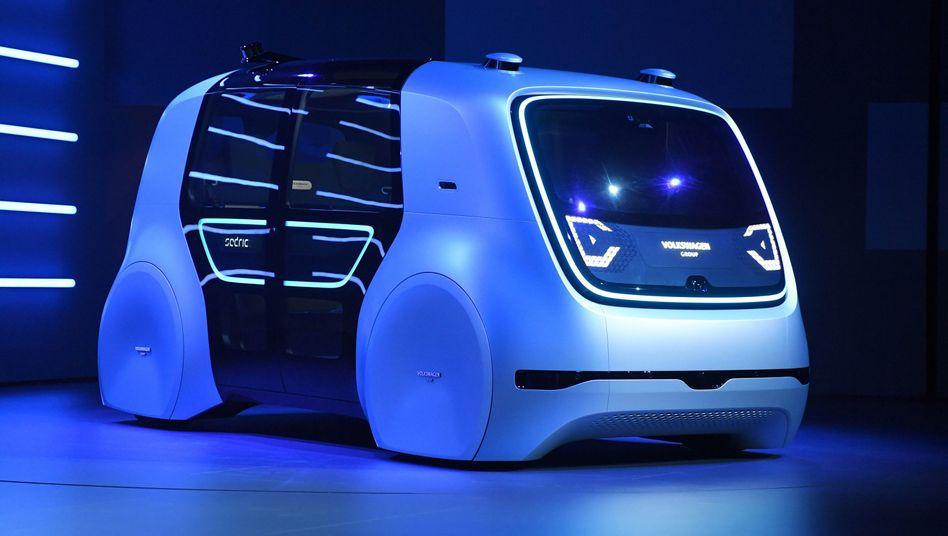 VW Konzeptentwurf Sedric für autonomes Fahren Sedric