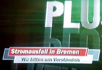 Wegen Stromausfalls in Bremen blieben die Mattscheiben schwarz: Das Saison-Eröffnungsspiel konnte erst mit Verspätung angepfiffen werden.
