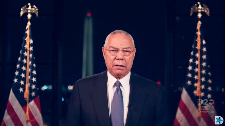 Colin Powell sprach sich beim Parteitag für Joe Biden als Präsident aus. Er war unter dem Republikaner George W. Bush Verteidigungsminister.