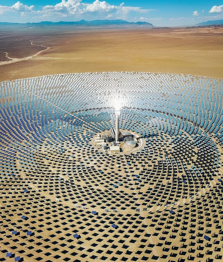 """Solar power plant in Nevada: """"Renewables and energy efficiency reduce emissions more and faster."""""""