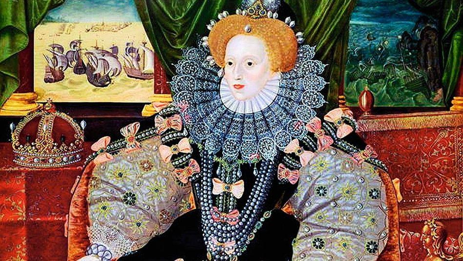 Prächtig: Zu Elizabeths Machtstrategie gehörten eindrucksvolle Bilder wie das Armada-Porträt von George Gower (1588)