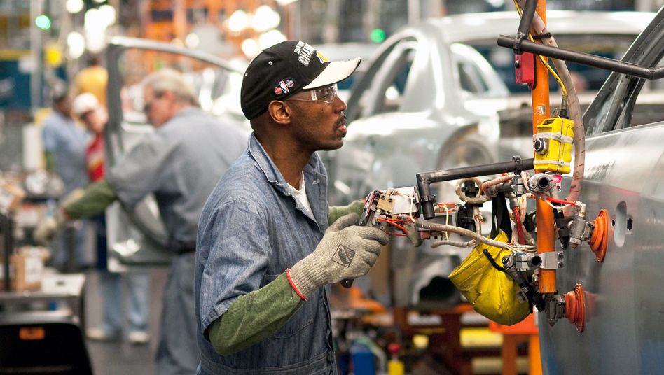 Arbeiter bei General Motors