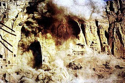 Die Taliban hatten die Figuren als Götzen bezeichnet und gesprengt