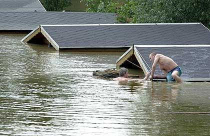 In den Fluten versunken: Häuser in Bad Schandau