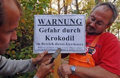 Korokodil-Alarm in Bayern: Warnung an bayerischem Baggersee