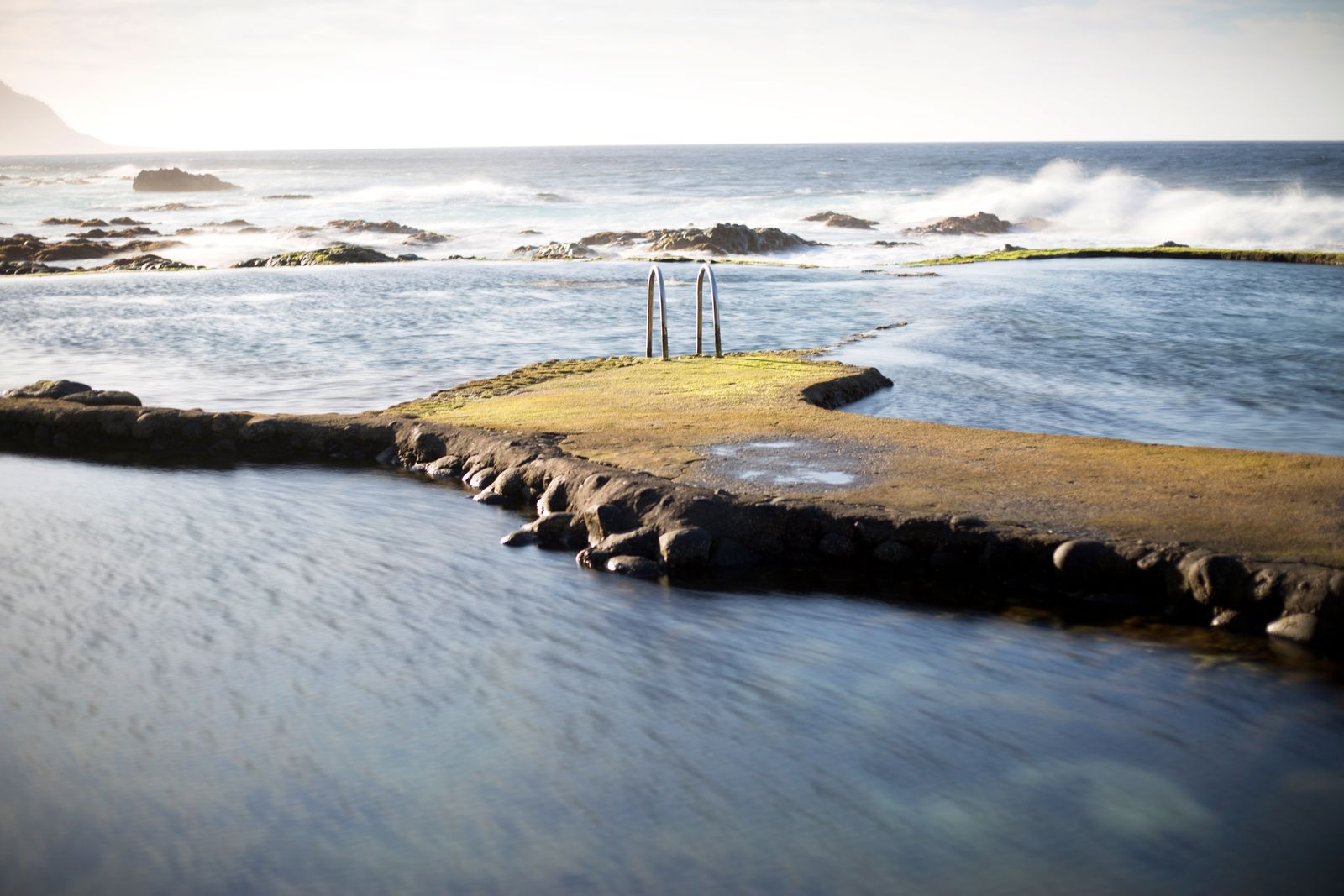 Natural Swimming Pool in El Hierro. Canary Island.
