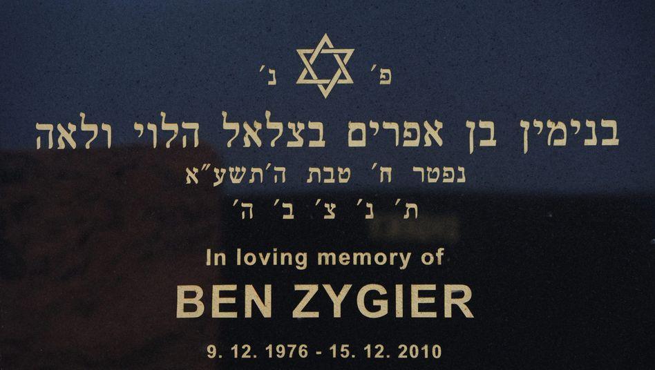 Grabstein von Ben Zygier in Melbourne: Seine Familie glaubte, er sei hinter feindlichen Linien gestorben