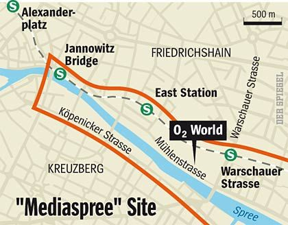 "The planned site of ""Mediaspree."""