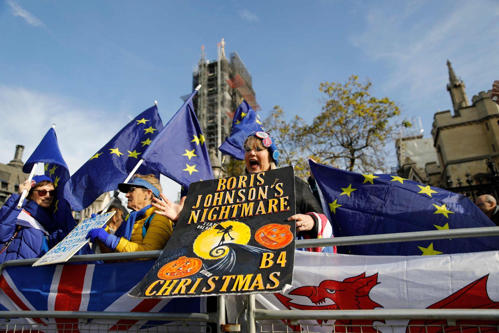 BRITAIN-POLITICS-EU-BREXIT - lage